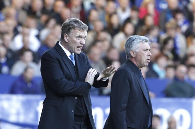 David Moyes, left, and Carlo Ancelotti, will lock horns again this weekend