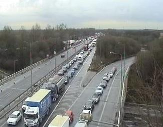 Traffic on the M602