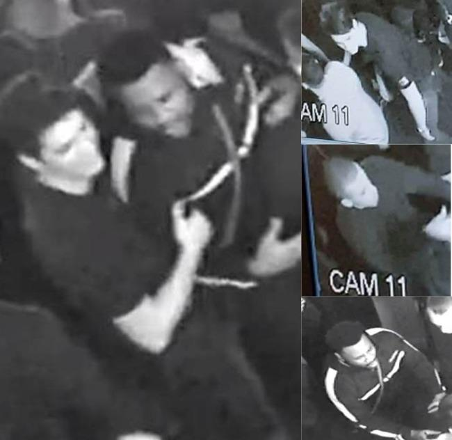 Police have issued these CCTV images after a man was assaulted by three men