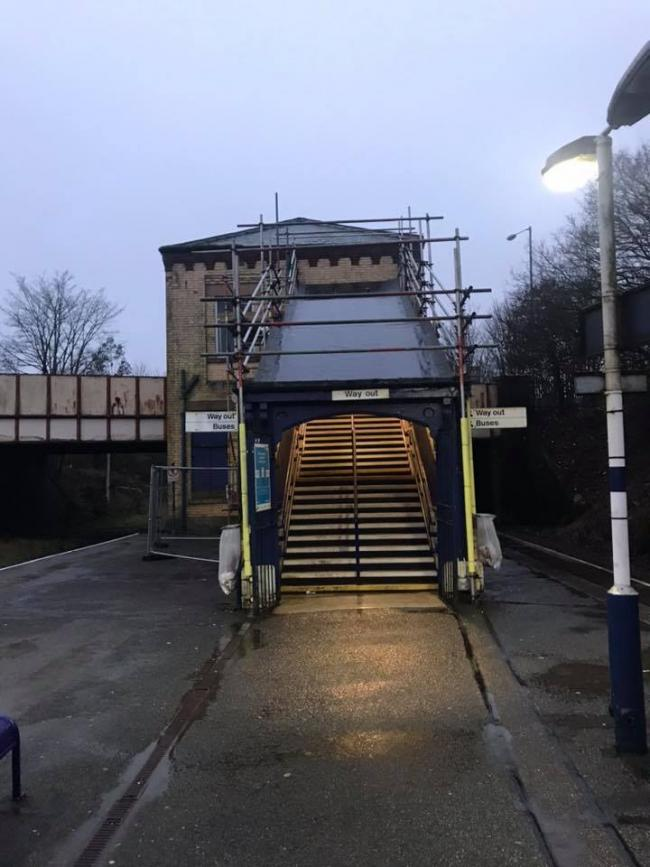 LEAKY: Daisy Hill station stairs