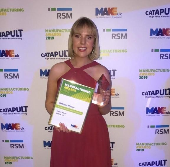 Helen Wood, who was named apprentice of the year at the Make UK awards