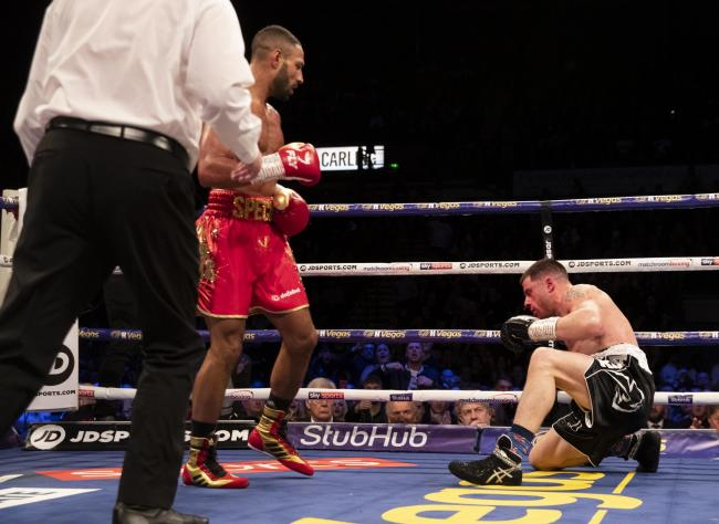 Kell Brook was too good for Mark DeLuca on Saturday night. Picture: Mark Robinson/Matchroom