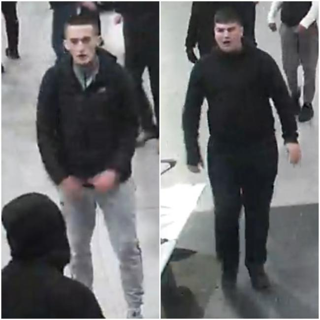 Police have released these images of two men they want to speak to