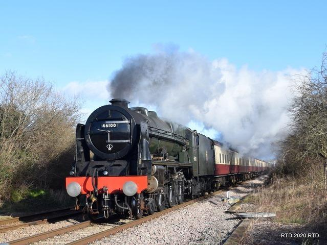 Royal Scot, 46100, undertakes a loaded test run before its journey north. Picture, Rob Davies
