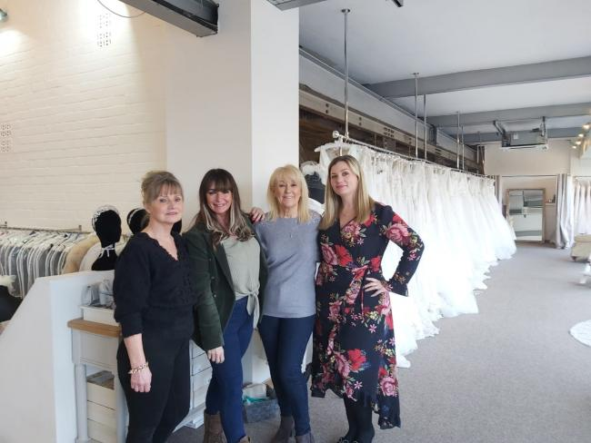 COOPERATIVE: (L-R) Sheila Taylor, She boutique, Donna Burrell, Global Interiors, and Gill Morris and Lindsay Suttill, Ivory Promise, in the new showroom