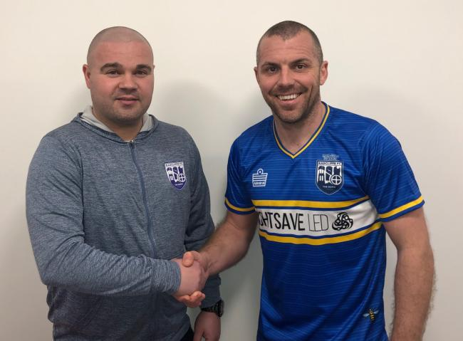 Lee Fowler welcomes Stephen Dawson to Radcliffe