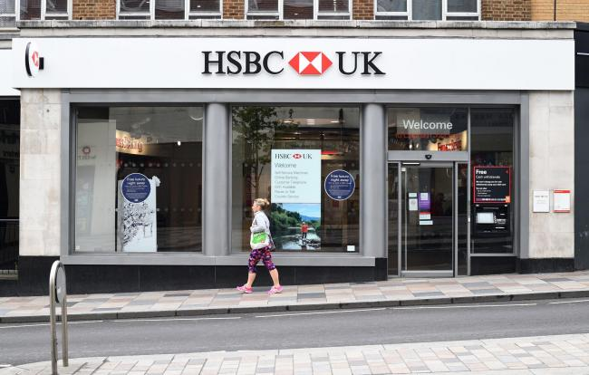 Jobs could be set to go at HSBC. Picture: Kirsty O'Connor/PA Wire
