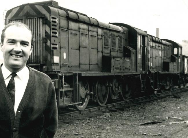 It really was the end of the line for two diesel-electric locomotives which were set to be turned into scrap in Bolton in 1968. The two green shunters were in a siding off Crescent Road and were about to be dismantled. Lawrence Hatton (pictured), a direct