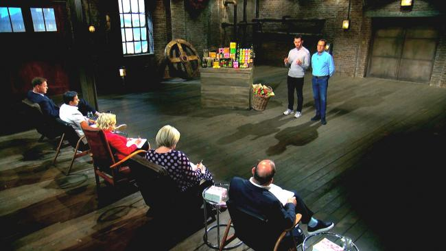 HOPEFUL: The Drynks team pitching to the dragons on Dragons' Den in an episode that was aired on Sunday Night.