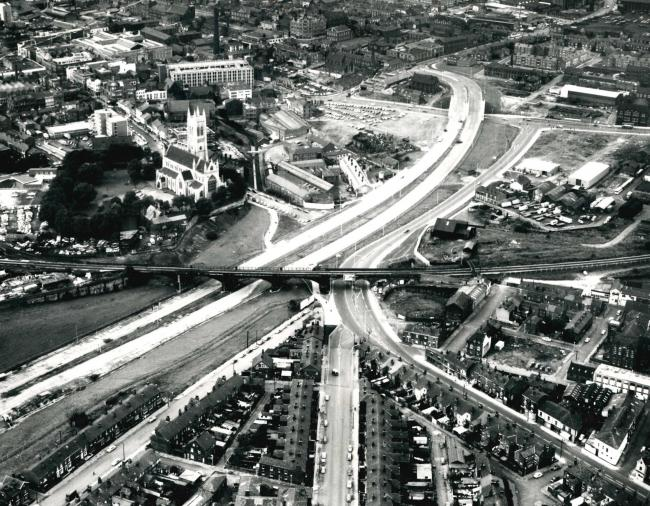 Bolton from the air in 1971. What do you recognise? 11190090