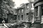 Egerton Hall being demolished in 1956
