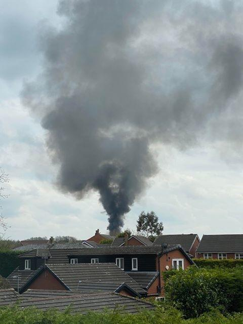Fire in Westhoughton. Photo by Mr Lee