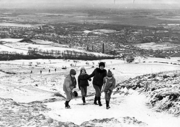 The Bolton News: Fun and games at Rivington Pike during the Big Freeze of December 1962
