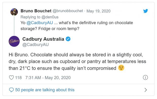 The Bolton News: DEBATE: Cadbury Australia settled the long-running debate. Picture: Twitter