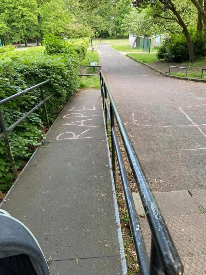 Shock as swastika and 'rape' etched in Westhoughton's Central Park