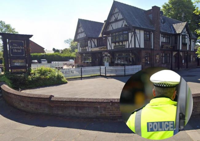 Police arrested four men at the Garrick's Head Pub