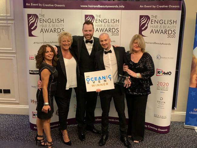 ACHIEVEMENT: Wesley Martin wins colour technician of the year at the Hair and Beauty Awards 2020. He works at Platinum Hair Studio in Astley Bridge