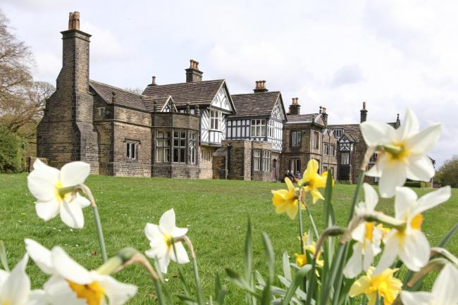 28th April 3018. Exterior of Smithills Hall, Bolton, Lancashire.Pictures by Phil Taylor Tel 07947390696. Pictures may be used freely without payment, but a byline is always apprciated..