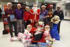 Bolton Lions launch their annual Christmas Toy Appeal. Pictured in 2019 From left, Lion Ray Stafford, Lion Tony Murphy, Christina Stafford, Father Christmas, Lion John Crompton, Lion Dipanker Mukherjee and Lion Babu Roye, front Christine Baldwin (communit