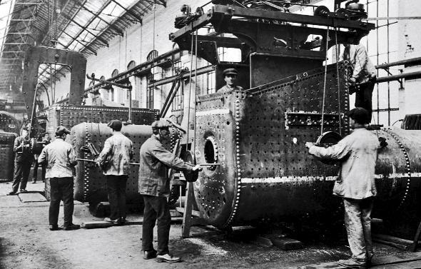 HERITAGE: Horwich Loco Works at the height of production