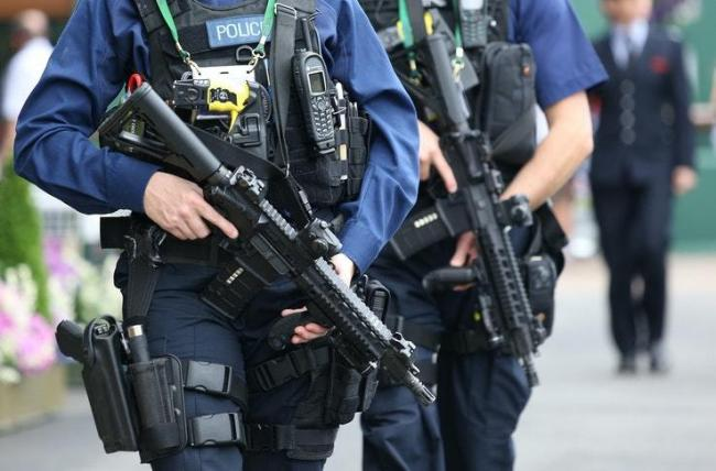 Armed police were called out to Farnworth town centre this morning