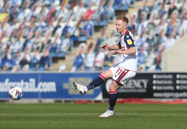 Eoin Doyle had another frustrating afternoon in front of goal for Wanderers at Colchester