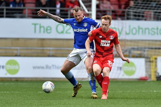 David Wheater in action for Oldham Athletic last season