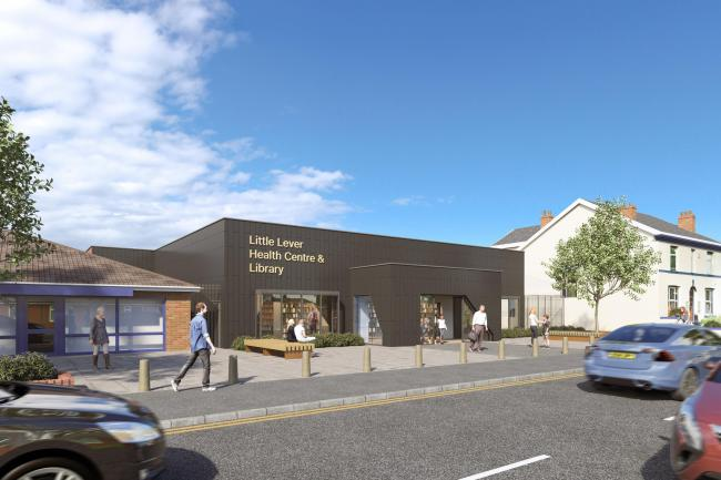 Artist's impression of new Little Lever Health Centre & Library