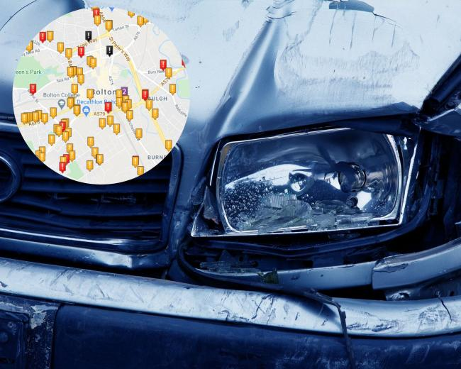Bolton roads with the most accidents involving young drivers (Photo: Pixabay, Crash Map)