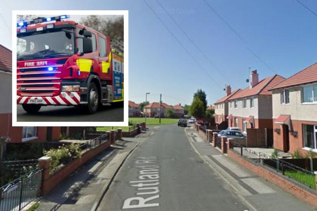 Crews tackled a house fire on Rutland Road. Main picture: Google Maps