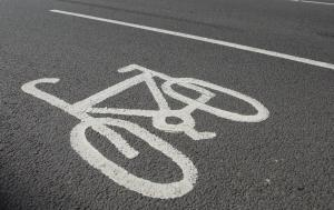 Library picture of cycle lanes