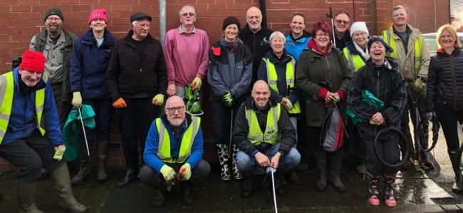 HAPPY: Litter picker volunteers helping to clean up Bolton (taken pre-Covid)