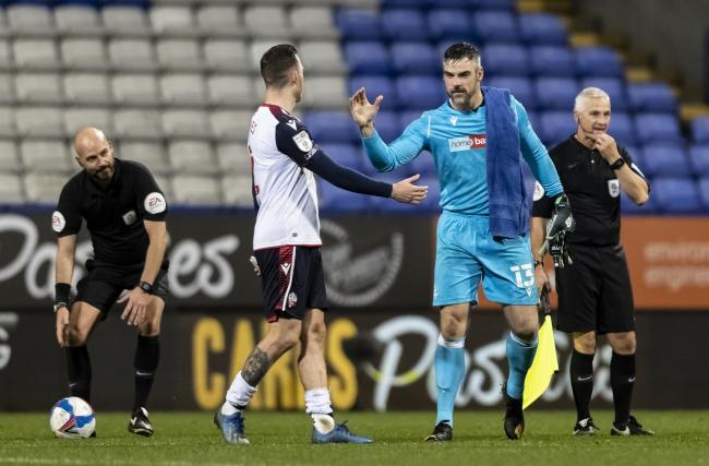 Matt Gilks celebrates with Gethin Jones at the final whistle