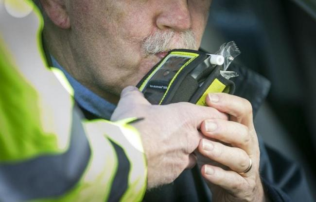A man getting a breath test (Picture: PA)