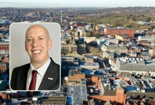 DOUBTFUL: Labour leader Cllr Nick Peel 9inset0 and an aerial view of Bolton