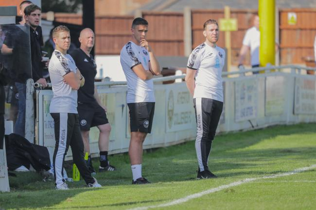Atherton Colls boss Brad Cooke, right. Pictures: Dave Featherstone