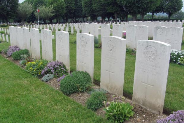 The Bolton News: TRAGIC: Alice Thomasson's grave in France