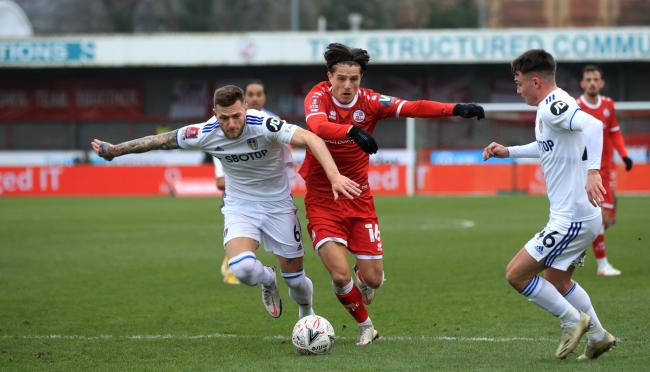 Crawley Town's Tom Nichols (centre) has been linked with a move to Sunderland