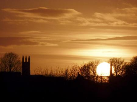 This atmospheric picture of Bolton Parish Church, Churchgate, silhouetted against the evening sky, was taken by Peter Hunter of Breightmet, Bolton who snapped the sunset from Tonge Fold, Breightmet.