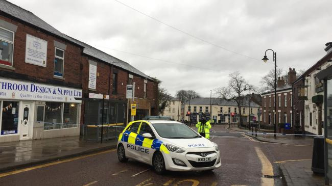 Police on the scene in Westhoughton