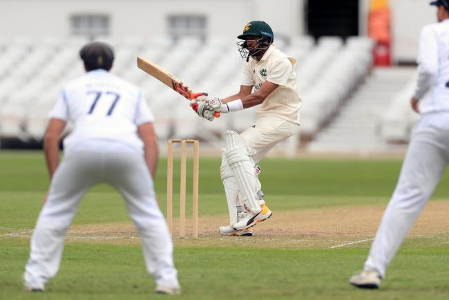 Nottinghamshire's Haseeb Hameed during day three of the Bob Willis Trophy match at Trent Bridge, Nottingham. PA Photo. Picture date: Monday August 3, 2020. See PA story CRICKET Derbyshire. Photo credit should read: Mike Egerton/PA Wire. RESTRICTIONS: