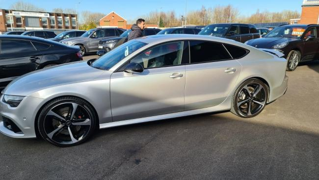 CAR: Imran Islam's Audi RS7, which he bought from Motor Class in Wigan