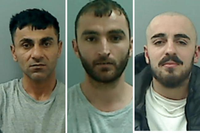 CAGED: Noza Saffari, Dorian Pirija and Qazim Marku were convicted for their roles in the killing of the 30-year-old Hemwand Ali Hussain