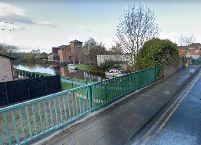 The canal in Leigh, close to where the body was found
