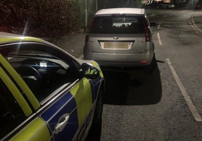 Police seized this car last night after it was found to be uninsured and being driven without a licence