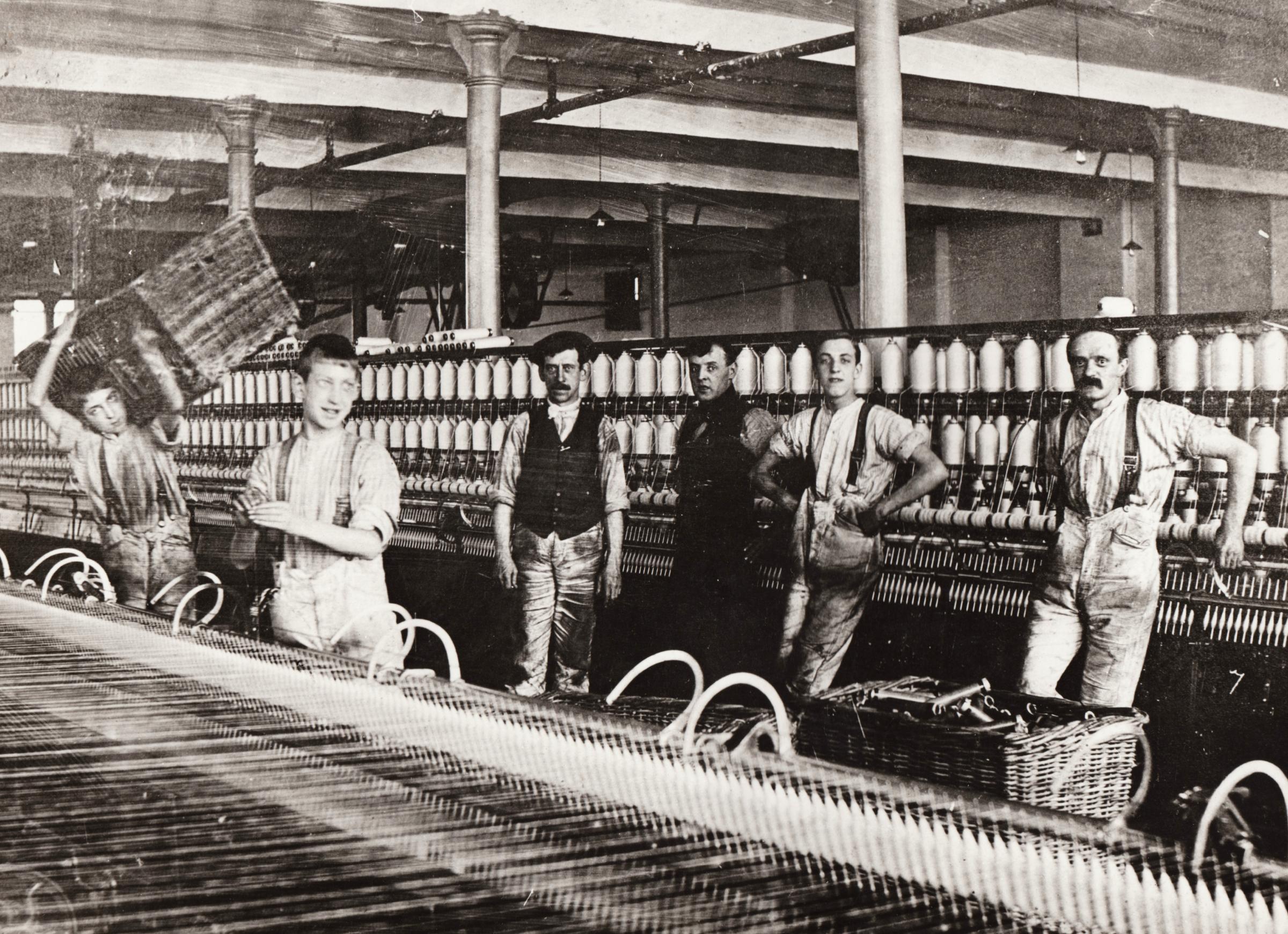 Inside a spinning mill