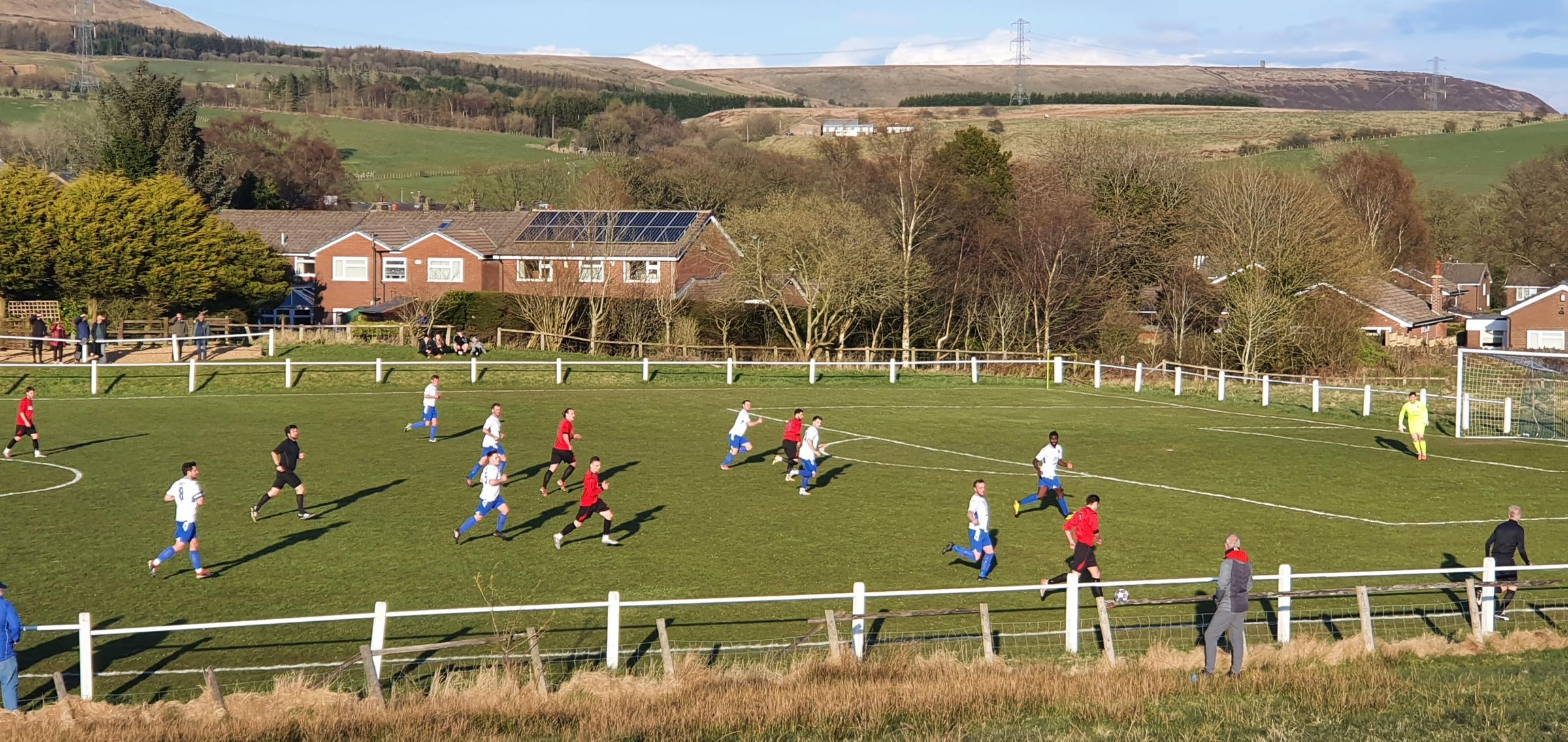 The view from afar as Turton took on Daisy Hill