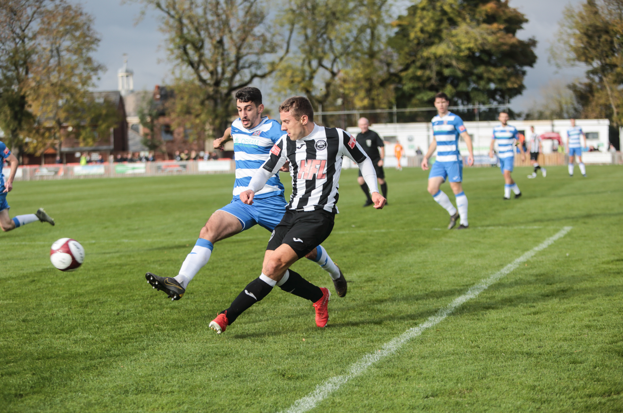 Gaz Peet in action for Atherton Colls. Picture; Dave Featherstone