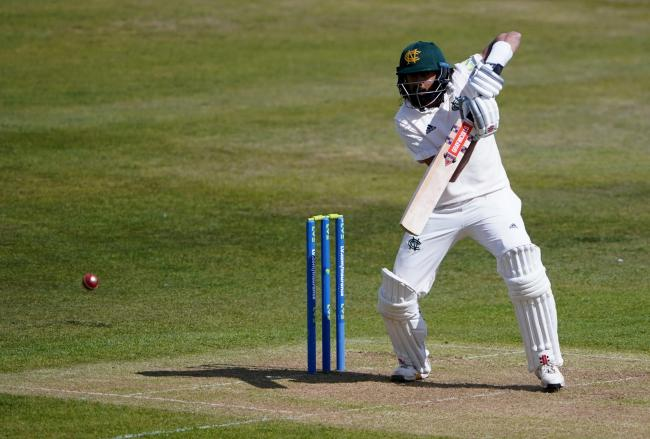 Nottinghamshire's Haseeb Hameed faced 635 deliveries across his side's match against Worcestershire