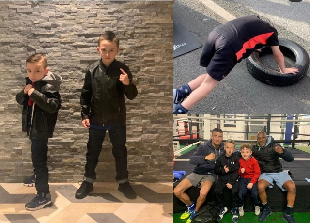 Bolton boxing brothers do 250 press-ups before school